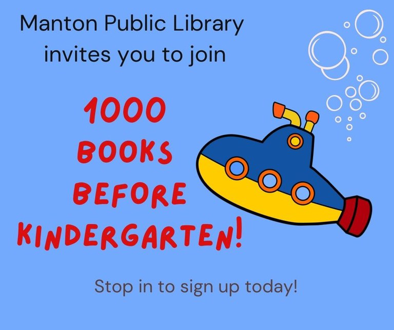 Sign up today for the 1000 books before Kindergarten program.
