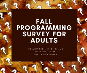 Survey for fall adult programming