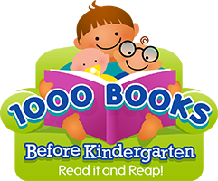 Logo for the 1000 books before kindergarten program